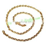 Gold Plated Metal Chain, size: 1x4mm, approx 42.7 meters in a Kg.