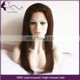 factory price virgn human hair blonde lace front wig silk base hair wig