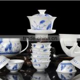 Bird Design Ceramic Tea Set Suit Porcelain Teaset 14 Pcs