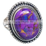 COPPER TURQUOISE RING ,WHOLESALE SILVER JEWELRY,SILVER EXPORTER,SILVER JEWELRY FROM INDIA