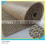 Iron on Glass Aluminum Rhinestone Mesh Bling Mix Crystal Rhinestone 3mm