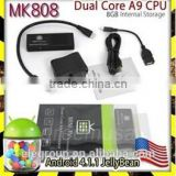 MK808 Dual Core A9 Google TV Box Android 4.1.1 RAM 1GB + 8GB Flash WIFI HDMI Full HD 1080P Mini pc android 4.2