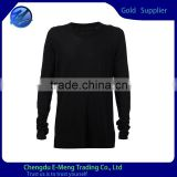 Blank Long Sleeves Wholesale T shirts Black For Man                                                                         Quality Choice