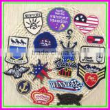 8cm Iron-on or Sew-on for Clothes Cheap Customize Plain Embroidery Patches Embroidered Brand Logo Cartoon Patch