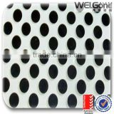 silk printed tempered decorative glass panel