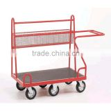 Steel platform trolley carts for logistis and warehouse