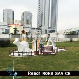 Outdoor/park / mall christmas decoration with white bear /christmas tree /christmas deer /windmill/house decoration