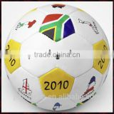 Hand Stitched Match Soccer Ball With Customized Logo Printed