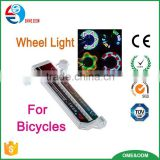 2016 new colorful bicycle tire fly light bicycle valve cap light bike wheel light