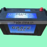 Long service life MF car starting battery 12V 100Ah Lead acid manufacture deep cycle battery 12V rechargeable battery