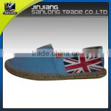 New design custom canvas casual men flat shoes
