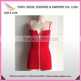 Wholesale Hot Sexy OEM Service Fitness Long Zipper Sleeveless Cheap High Quality Waist Shaping Tank Top