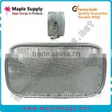 Silver Sequin Glitter Cosmetic Bag