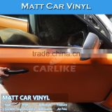 CARLIKE Removable Air Free Matt Orange Color Change Car Body Wrap Vinyl Roll
