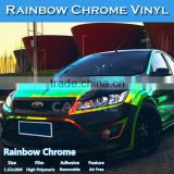 CARLIKE Colorful Chrome Rainbow Holographic Vinyl Sticker For Car Decoration