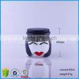 women face shape Art craft bottle with lid/ glass High-grade slim shape empty bottles for souvenir/gift/exhibits