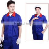 Custom made working clothes unisex industrial wearing workwear fabric with OEM log for wholesale top quality