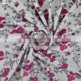 2015 New Product Floral Print Fabric 4 Way Stretch Lycra Fabric Vintage Flower Underwear Fabric Nylon Elastane