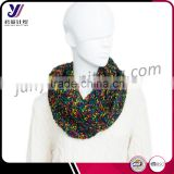 Chunky women fashion infinity knitting neckwarmer infinity scarf loop scarf factory wholesale sales (accept custom)