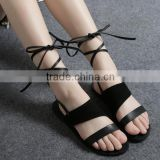 Z81168B wholesale design shoes ladies fancy sandal woman flat beach sandal shoe
