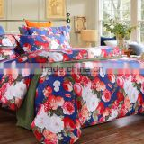 2015 latest flowers pattern romantic design cotton bedding hot sales bed sheets wholesales bedding set
