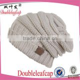 Double Layer Cable Acrylic Yarn Winter Knitted Beanie Caps                                                                         Quality Choice