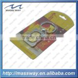 double plating gold and silver custom promotional 3D beer metal key ring