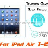 Premium Tempered Glass Protective Film Screen Protector for ipad air 2/ipad 2/3/4 For ipad mini 3/2/1