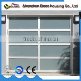 Modern house best quality automatic operation aluminum anodized frame frosted glass sectional garage door panel