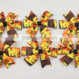 Fashion Children Girls Festival Grosgrain Ribbon Hair Bow With Clips