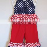 Wholesale China baby outfit ruffles 4th July girls children clothes set