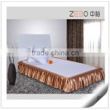 100% Polyester Custom Decoration Pleated Bed Skirts for Hotel Used