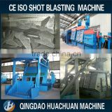 Steel belt and roller through auto loading and unloading shot blasting machine