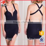 New Style Sexy Bandage Fabric Mini Ladies Dress Names