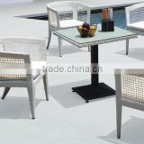 Micheal New Arrival Outdoor Furniture Barefoot Friendly Deep Seating Rattan Dining Set Patio Chairs With Table