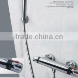 Thermostatic shower rail set