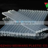 Very clear transparent silicon stick / hot melt glue adhesive