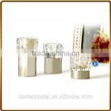 Small Tealight Candle Holder With Crystal Glass And With Nickel plated ,Sivler plated,Gold Plated finishing