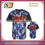 Stan Caleb Polyester Dri Fit Men black Custom Baseball Jersey/baseball tee shirts wholesale