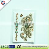 New arrived customized wholesale craft unique decorative fancy waterproof gold hair sticker