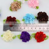 new design multi colored artificial flowers heads silk carnation ribbon flowers