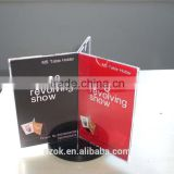 3 sided rotating acrylic paper holder, acrylic menu holder