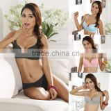 New Sexy Women Bra 3/4 Cup Thin Light Padded V-Neck Seamless Underwire Lingerie Underwear