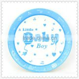 "Paper plate sizes 7""/9"" baby boy theme for kids birthday party decoration"