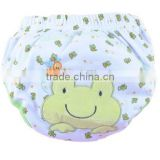 3 layer baby cloth nappy, lovely frog baby diaper, reusable baby nappy, cartoon embroidered training baby cloth nappy,