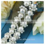 Hot selling fashion wholesale crystal beaded belts for bridal accessory