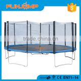FUNJUMP 2016 CE GS certificate short pole outside ecslosure 15FT aldi bungee adult trampoline