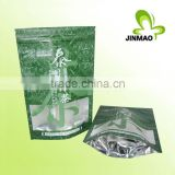 Self stand up ziplock laminated tea pouch design