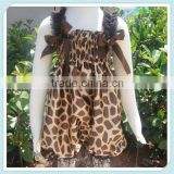 New arrival deer pattern retro fashion satin sexy knickers romper jumpsuits for children summer style baby clothing