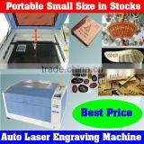 Automatic Portable Laser Engraving Machine 3040C Used for Carving Kinds of Crafts with Stone,Glass,Wood,PVC Materials